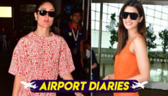 Airport Diaries:  Kareena Kapoor and Kriti Sanon make a stylish splash of colours