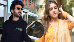 Sara Ali Khan hides her face while dropping Kartik Aaryan at the airport