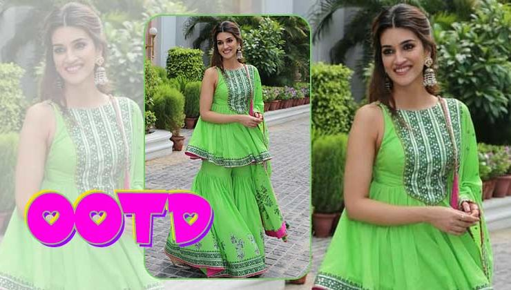 Kriti Sanon's sharara suit is a must-have in your wardrobe this festive season