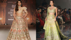 Malaika Arora and Kriti Sanon look stunning as they sashay the ramp at the India Couture Week