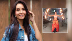 Nora Fatehi plays with fire a day before shooting 'O Saki Saki' song