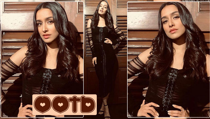 Shraddha Kapoor looks divine sporting an off-shoulder sheer black number