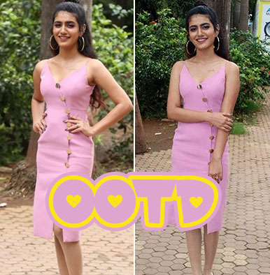 Priya Prakash Varrier Pink Dress