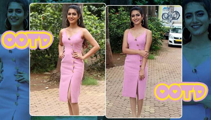 Priya Prakash Varrier's pink spaghetti dress rocks, but it's her tattoo that steals the show