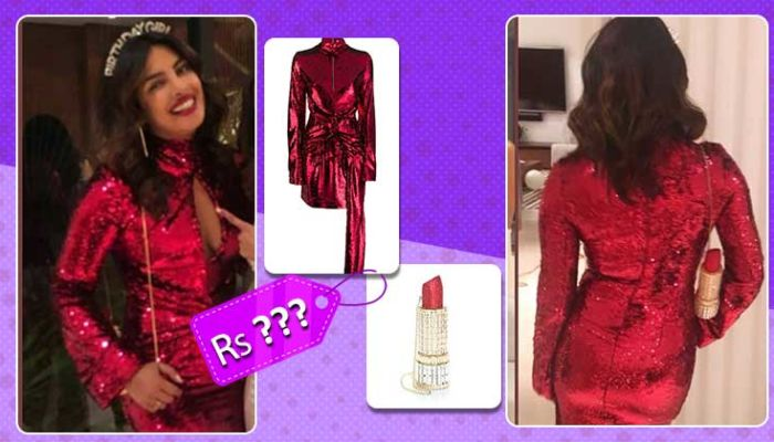 Priyanka Chopra's mini red dress and lipstick clutch is worth sponsoring your Singapore trip