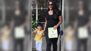 Mommy-to-be Sameera Reddy out for lunch with her son Hans Verde - view pics