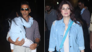 Akshay Kumar, Twinkle Khanna jet off to London with Nitara