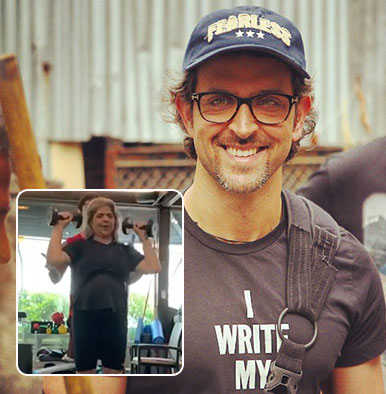 WATCH: Hrithik's mom Pinky Roshan sets fitness goals by grooving to 'Super 30' song at gym