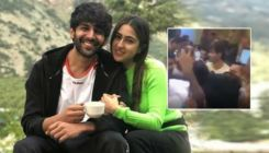 Kartik Aaryan protects Sara Ali Khan from unruly mob in Lucknow - watch video