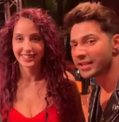 Nora Fatehi challenges Varun Dhawan to do the 'O Saki Saki' hook step
