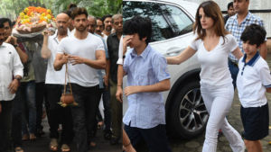 J Om Prakash's Funeral: Hrithik Roshan, ex-wife Sussanne Khan and their kids bid farewell to the legendary filmmaker
