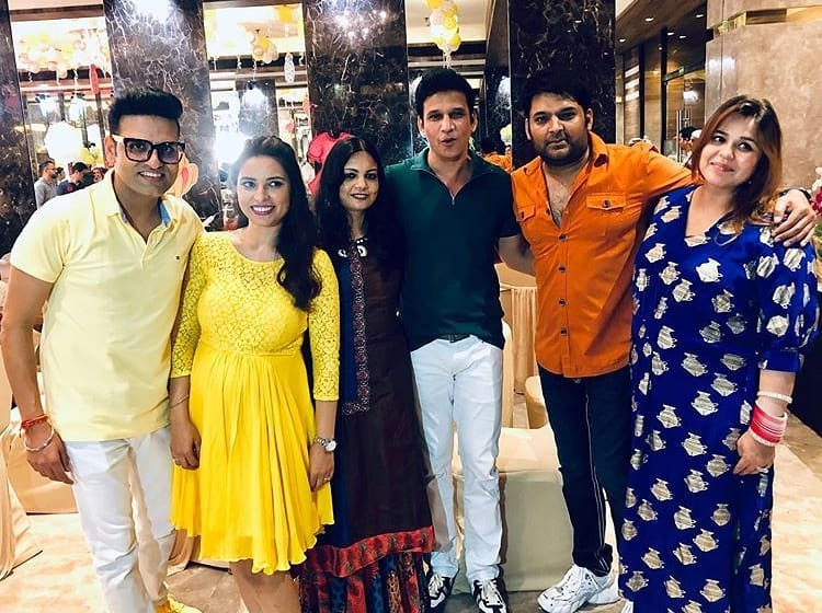 Kapil and Ginni at friend's baby shower