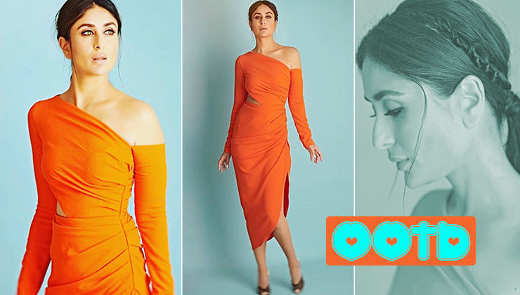 Kareena Kapoor stuns in a cut-out detailed orange dress