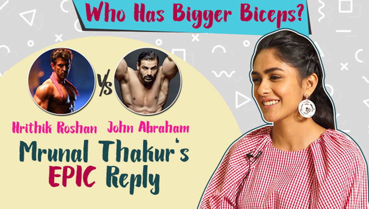John Abraham or Hrithik Roshan- Who has bigger biceps? Mrunal Thakur's epic reply