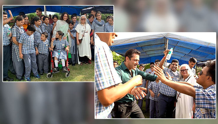'Dabangg 3': Salman Khan and Sonakshi Sinha spend quality time with specially-abled children on the film's sets