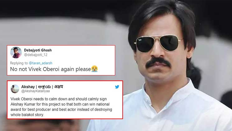 Vivek Oberoi trolled post announcing his next movie on Balakot airstrikes | Bollywood Bubble