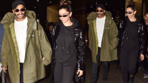 Airport Diaries: Ranveer Singh-Deepika Padukone are all smiles as they return to the bay hand-in-hand