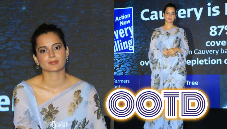 Kangana Ranaut shows how to enhance your wardrobe with a saree this monsoon
