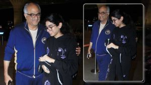 Airport Diaries: Boney Kapoor sees off daughter Khushi as she leaves for further studies