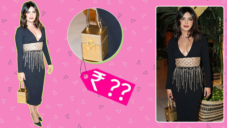The price of Priyanka Chopra's golden alibi box bag will blow your mind
