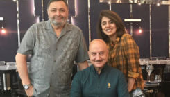 Rishi Kapoor celebrates his 67th birthday with BFF Anupam Kher and Neetu Kapoor
