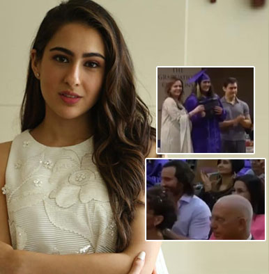 Sara Ali Khan's high school graduation ceremony with proud parents cheering has gone viral