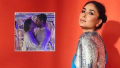 Kareena Kapoor and Saif Ali Khan share a kiss post her birthday celebrations in Pataudi Palace