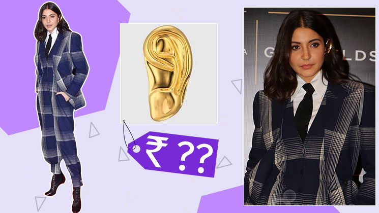 Anushka Sharma's golden ear cuff is easily affordable yet highly fashionable | Bollywood Bubble