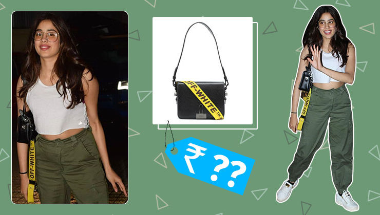 Janhvi Kapoor's Off-White shoulder bag's price will leave you in shock
