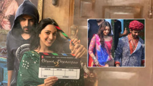 Kartik Aaryan and Kiara Advani in Bhool Bhulaiyaa 2