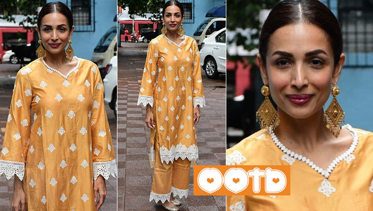 Malaika Arora gives festive vibes in this lace detailed outfit