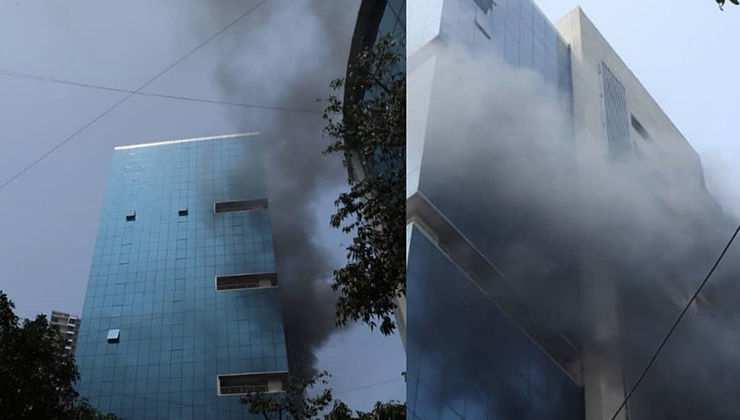 Massive fire breaks out at Andheri's Peninsula Park having many production houses
