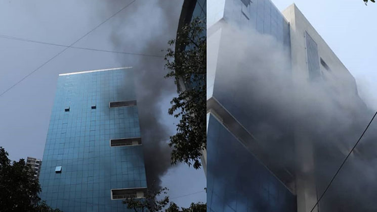 Massive fire breaks out at Andheri's Peninsula Park having many production houses | Bollywood Bubble