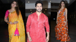 In Pics: Sara Ali Khan, Varun Dhawan, Kriti Sanon and others attend Jackky Bhagnani's Diwali bash