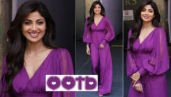 Shilpa Shetty stuns us with her power dressing in this purple jumpsuit