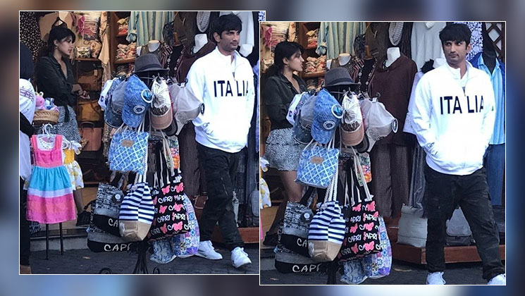 Sushant Singh Rajput goes shopping with rumoured GF Rhea Chakraborty in Italy-view pics | Bollywood Bubble