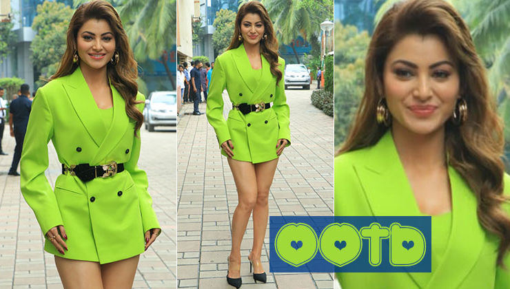 Urvashi Rautela looks breathtaking in a one-piece dress at the 'Pagalpanti' song launch