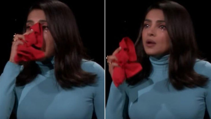 Priyanka Chopra could not stop her tears on 'The Tonight Show With Jimmy Fallon' - watch video