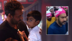 Ajay Devgn and son Yug get mobbed at Ajmer Sharif dargah; actor loses his cool badly - watch viral video