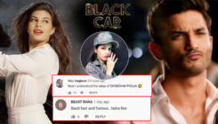 Trolls slam Jacqueline Fernandez and Sushant Singh Rajput's 'Black Car' song; Compare it to Dhinchak Pooja's songs