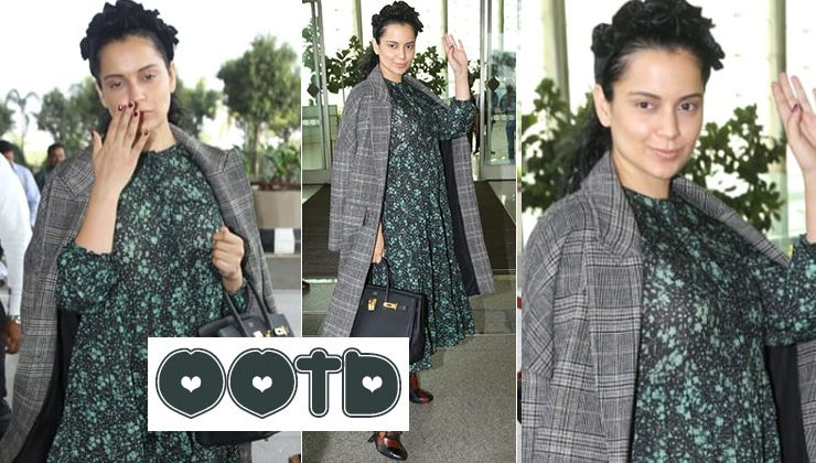 Kangana Ranaut has got the best way of paring a floral print dress with a formal jacket