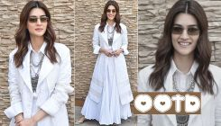 Kriti Sanon rocks a monotone white look with an ethnic touch