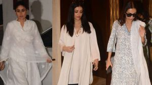 Kareena Kapoor, Aishwarya Rai, Malaika Arora arrive to pay homage to Manish Malhotra's father