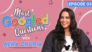 Neha Dhupia's sarcastic reaction to her Most Googled Questions