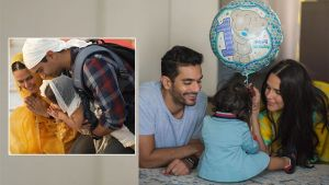 Neha Dhupia and Angad Bedi take li'l Mehr to the Golden Temple on her 1st birthday
