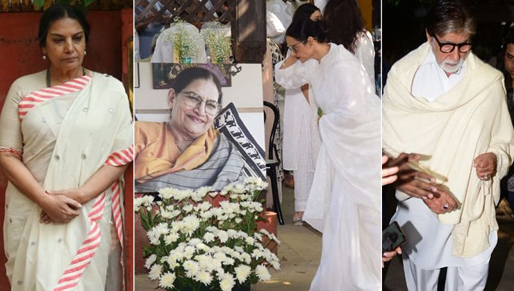 Shaukat Kaifi's Funeral: Amitabh Bachchan, Rekha and other celebs attend Shabana Azmi's mother funeral