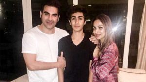 Arbaaz Khan, Malaika Arora and Arhaan Khan