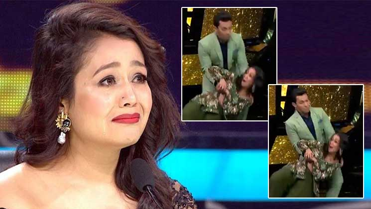 Indian Idol 11: OMG! Neha Kakkar FALLS on stage while dancing | Bollywood Bubble