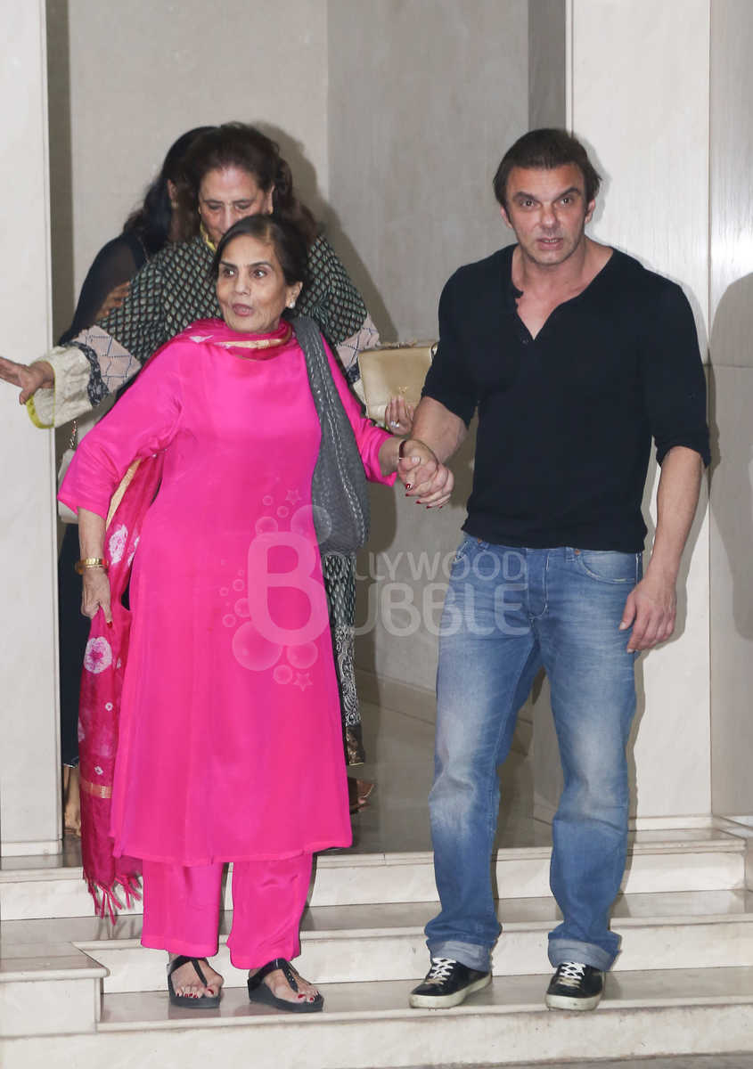 Sohail Khan with mother Salma Khan