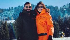 Anushka Sharma and Virat Kohli having a ball in the snow-capped mountains of Switzerland